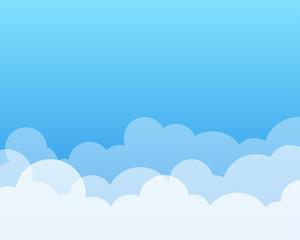 Cloud vector background illustraition