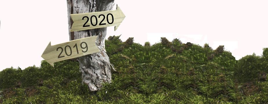 Jahreswechsel 2019 - 2020 in Bannerform
