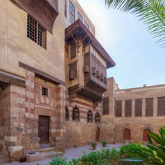 Courtyard of El Razzaz Mamluk era historic house, located at Darb Al-Ahmar district, Old Cairo, Egypt