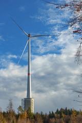 Windturbine in Gaildorf, one of the 4 tallest windgenerators in the world