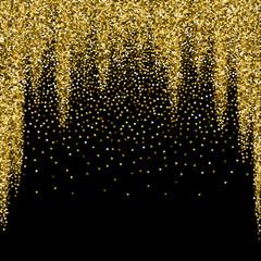 Gold triangles glitter luxury sparkling confetti.