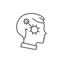 Focus line icon concept. Focus vector linear illustration, sign, symbol