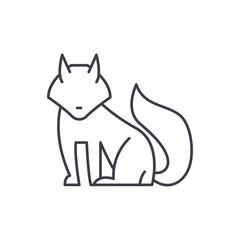 Fox line icon concept. Fox vector linear illustration, sign, symbol