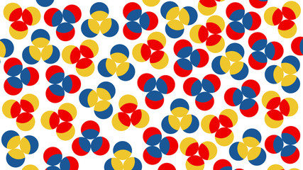 Neoplasticism imittation pattern with colorful circles. large size background texture