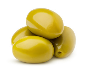 olive isolated on white background, clipping path, full depth of field