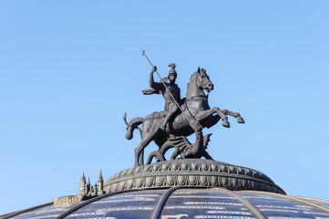 Aluminium Prints Historic monument Statue of St. George the Victorious in Moscow