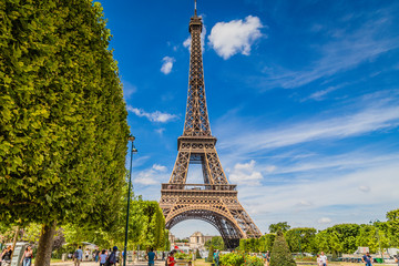 Eiffel Tower in summer