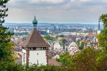 Germany, Ancient swabian city gate of the green city Freiburg im Breisgau