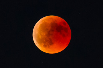 Eclipse of moon, moon of blood