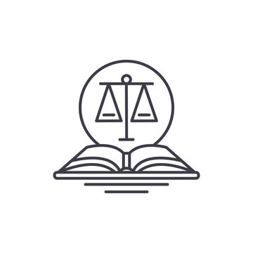 Legal code line icon concept. Legal code vector linear illustration, sign, symbol
