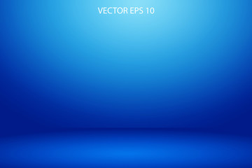 soft blue wall banner and  studio room background