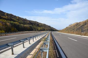 Empty highway in the hills