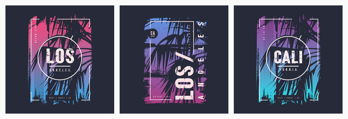 Los Angeles California graphic tee vector designs with palm tree
