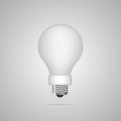 Light bulb. Realistic style lamp. Vector illustration.