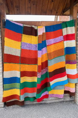 Crochet colorful blanket for sale at gergean street