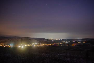 Near the village at night