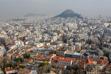 Cityscape view of Athens, Greece