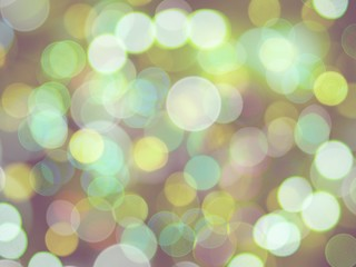 round blurred bright green shining lights glowing celebration abstract background