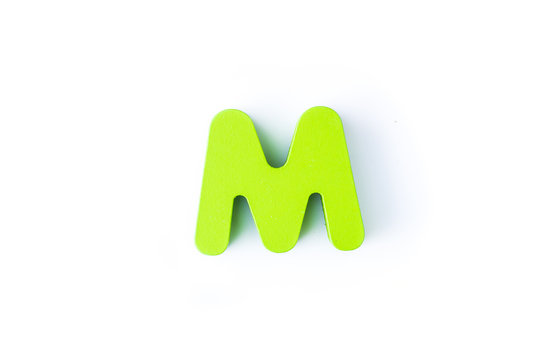 M letters in English on a white background.