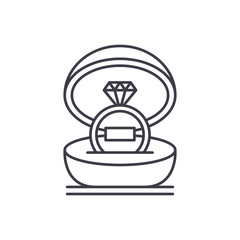 Marriage ceremony line icon concept. Marriage ceremony vector linear illustration, sign, symbol