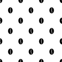 Coffee Bean Icon Seamless Pattern