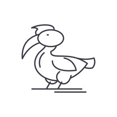 Pelican line icon concept. Pelican vector linear illustration, sign, symbol