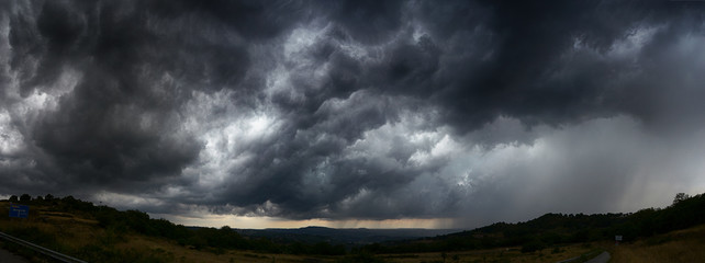 Photo sur cadre textile Tempete sky with storm clouds dark