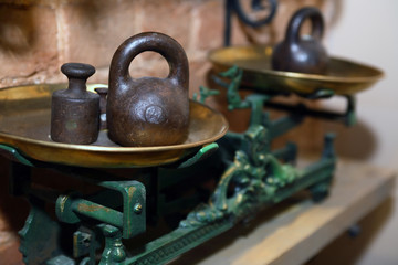 Old Weight Scales