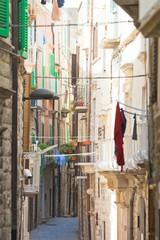 Molfetta, Apulia - Narrowness lifestyle in the old alleyways of Molfetta