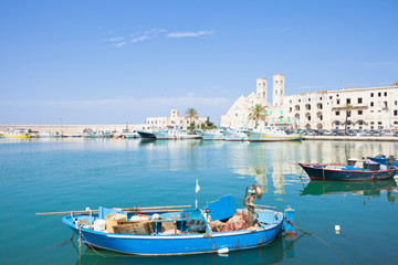 Molfetta, Apulia - A traditional fishing boat at the harbor of Molfetta