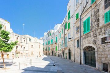 Molfetta, Apulia - Marketplace of Molfetta surrounded by residential buildings
