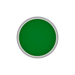 Green round vector button