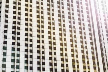 Facade of a modern skyscraper , background, texture
