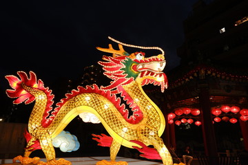 Chinese Dragon at China Town in Yokohama, Japan