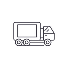 Truck line icon concept. Truck vector linear illustration, sign, symbol