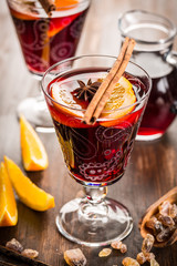 Mulled wine or hot punch for Xmas