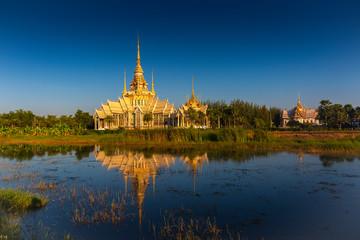 The beautiful temple at Wat Luang Phor Tor in Korat,Nakhonratchasima province,Thailand