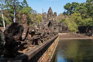 Kambodscha - Angkor - Südtor von Angkor Thom