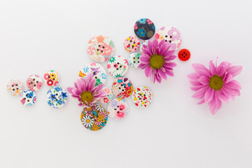 flower buttons background