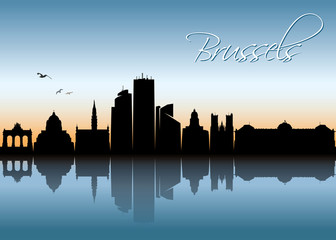 Brussels skyline - Belgium
