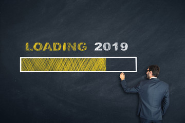 Business Person Drawing Loading 2019
