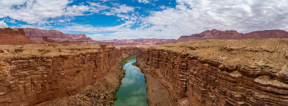 Panoramic view of Colorado River, Marble Canyon Arizona