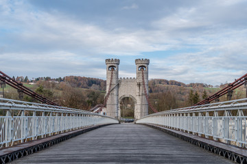 Pont Charles-Albert en Haute Savoie près de Cruseilles et Alonzier la Caille