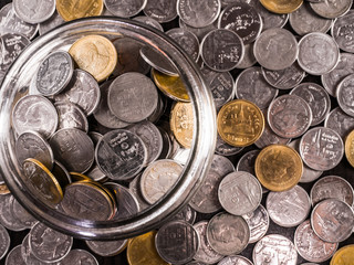 Group of coins, Pile of coin