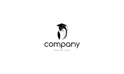 Wise owl vector logo image