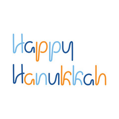 Happy Hanukkah, text. The Menorah, David Star.