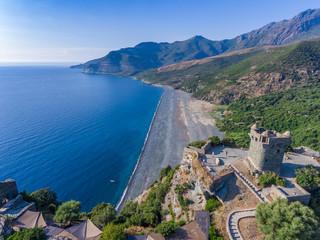 Nonza an der Westküste des Cap Corse auf Korsika