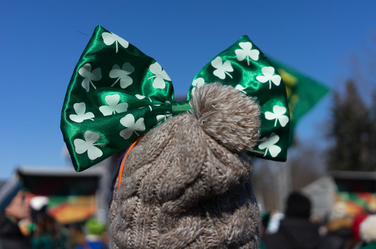 Participants in the celebration of St. Patrick's Day in Moscow.