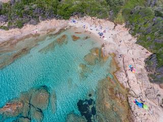 Strand im Golf von Sagone an der Westküste der Insel Korsika