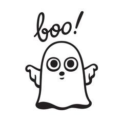 Cartoon ghost drawing